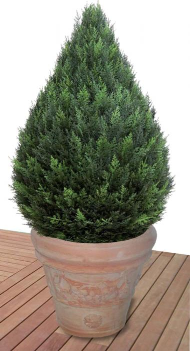 Cipresso a goccia piante artificiali da esterno interno - Porta piante da esterno ...