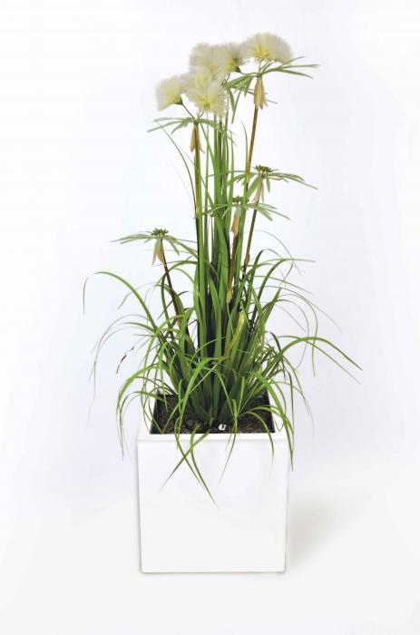 Papiro plantas artificiales de exterior interior viridium - Plantas artificiales exterior ...