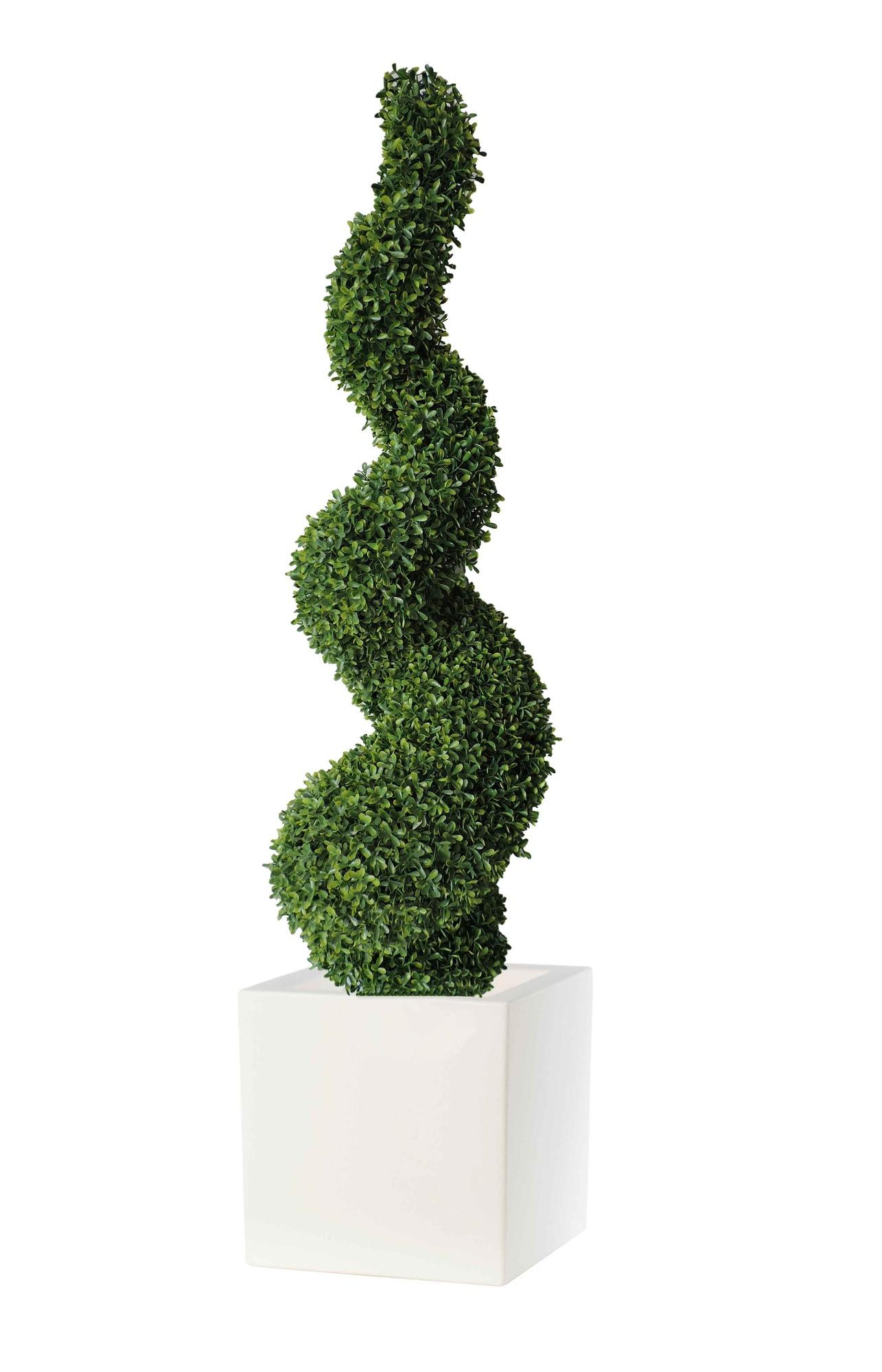 Piante artificiali da esterno spirale di buxus piante - Piante finte esterno ...